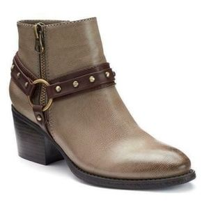 SONOMA Stone Faux Leather 'Carolyn' Ankle Boots 7